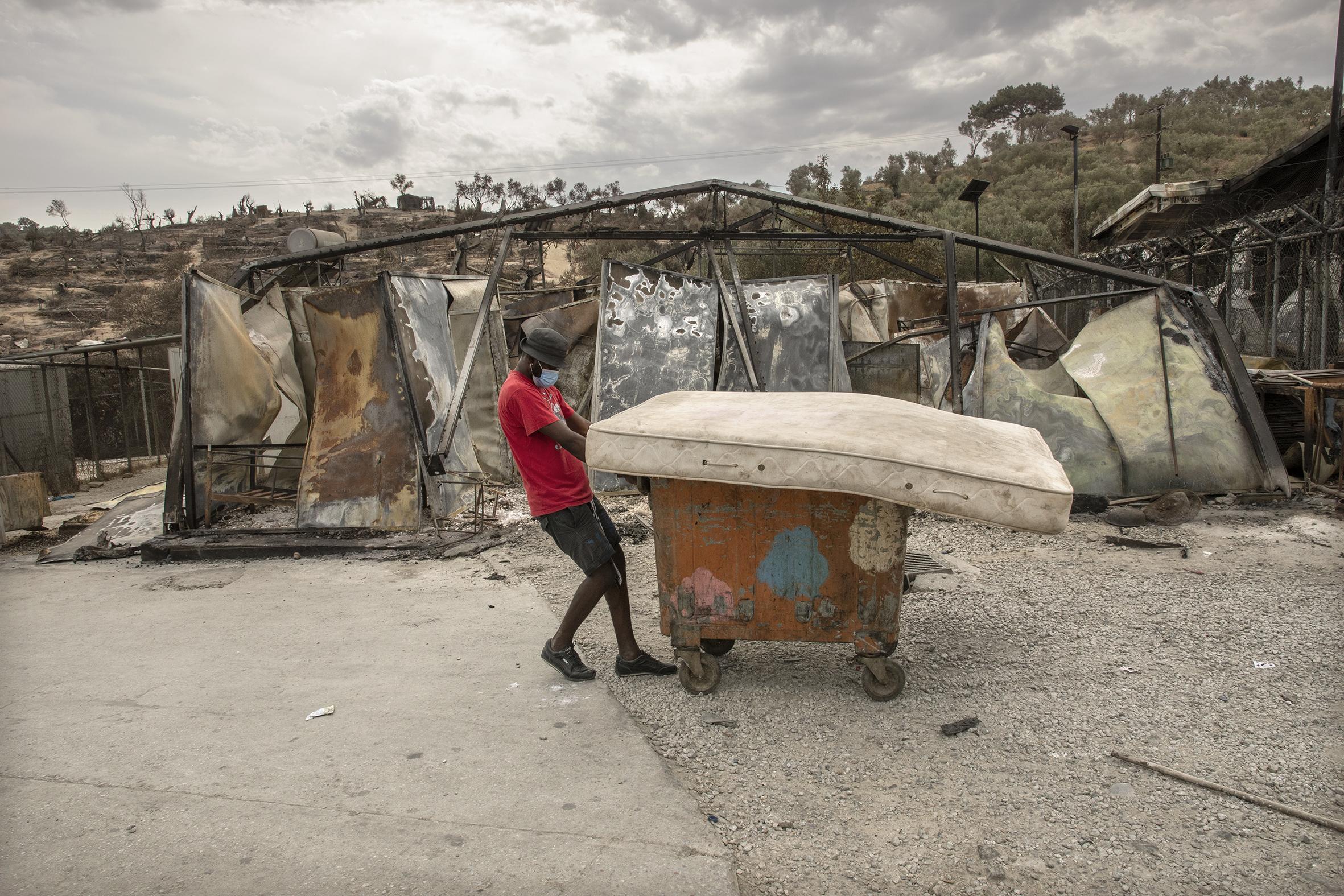 Camp de Moria, Lebos, Octobre 2020 © Mathieu Pernot